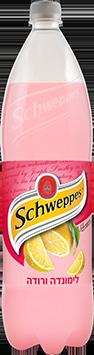 schweppes בטעם לימונדה ורודה 1.5 ליטר